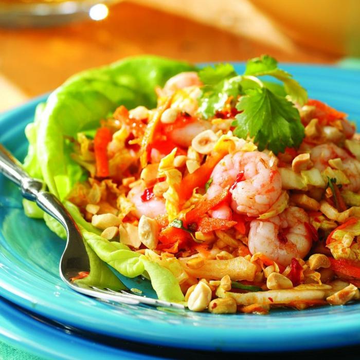 platos ricos con mariscos y verduras para una cena saludable y fácil de preparar, ideas de comidas ricas y originales
