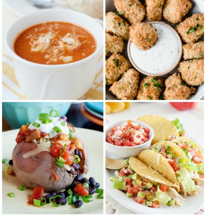 ideas de comidas ricas y faciles de hacer, cuatro propuestas de comidas para niños, menu saludable para adolescentes