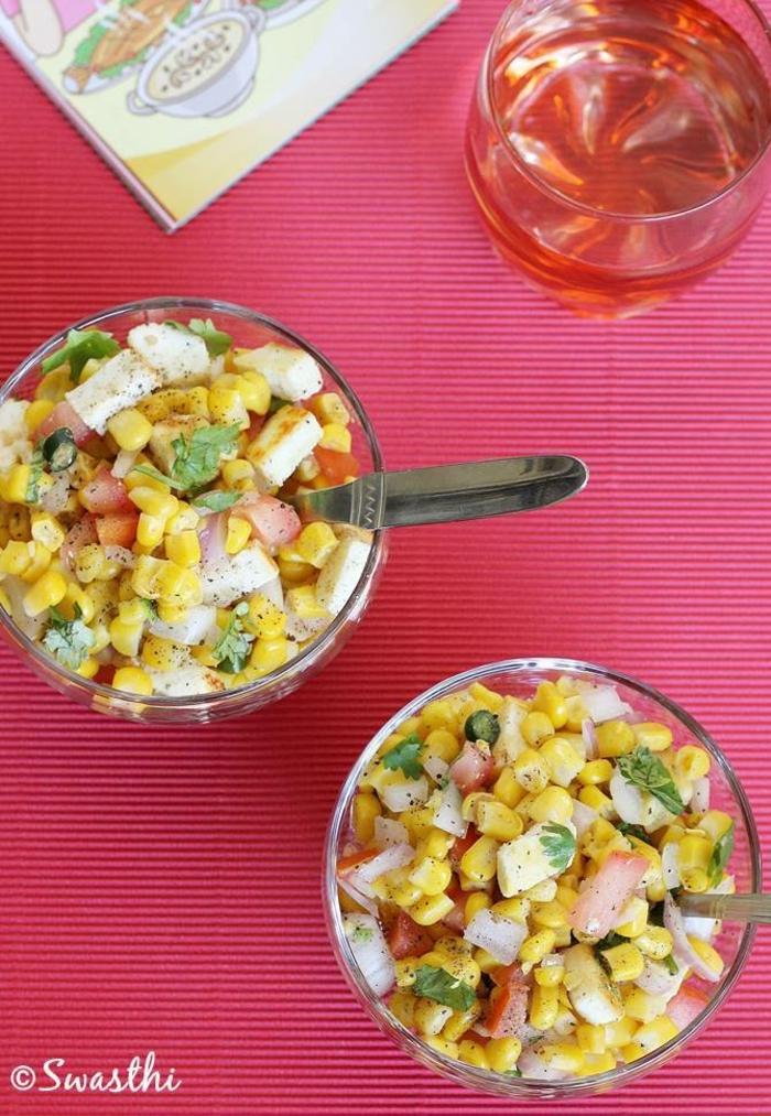 fotos de recetas faciles y rapidas para comer, ensaladilla con mariscos, ideas de platos para un menu saludables y fácil de preparar