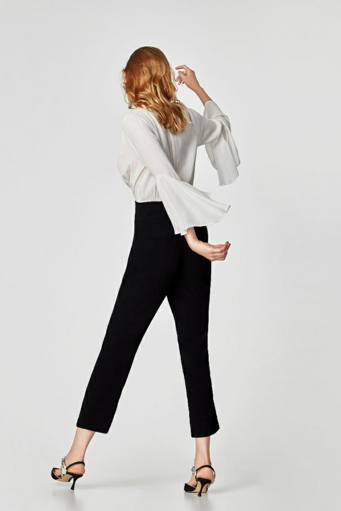 silueta elegante en blanco y negro, las mejores ideas sobre cómo conseguir un look de fiesta según las últimas tendencias