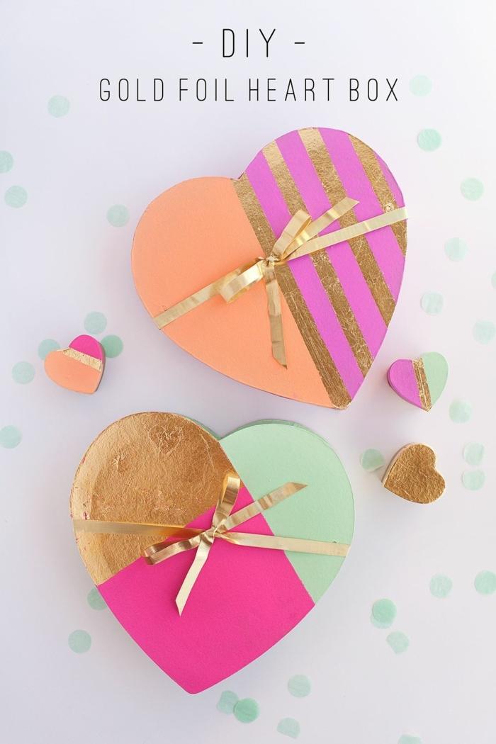 adorables cajas para hacer en casa, ideas de manualidades san valentin, fotos de detalles para san valentin para hacer en casa