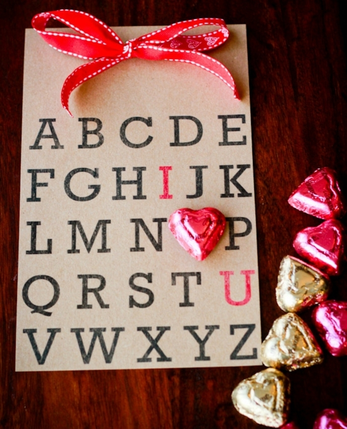 las mejores ideas de postales de amor para el dia de san valentin, tarjetas originales con chocolates, fotos de tarjetas