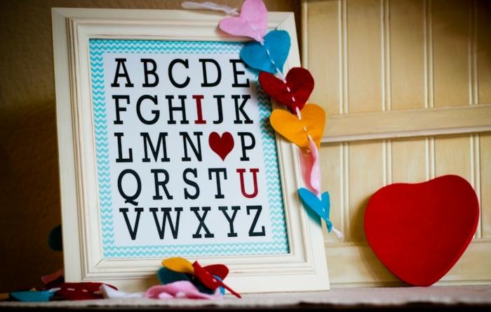 lamina decorativa divertida y original para san valentin, manualidades san valentin para regalar y sorprender a tu pareja