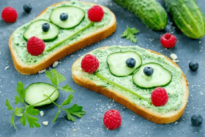 divertidas ideas de meriendas para niños, tostadas para un desayuno saludable y nutritivo, ideas de comidas para niños