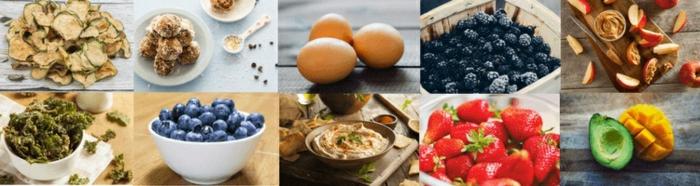 diferentes ejemplos de comida saludable para merendar, fotos de comidas ricas y fáciles de hacer, meriendas para niños