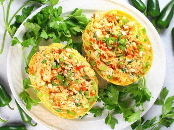 mini calabazas rellenas con pollo y verduras, dieta cetogenica alimentos sin carne, las mejores recetas para preparar en verano