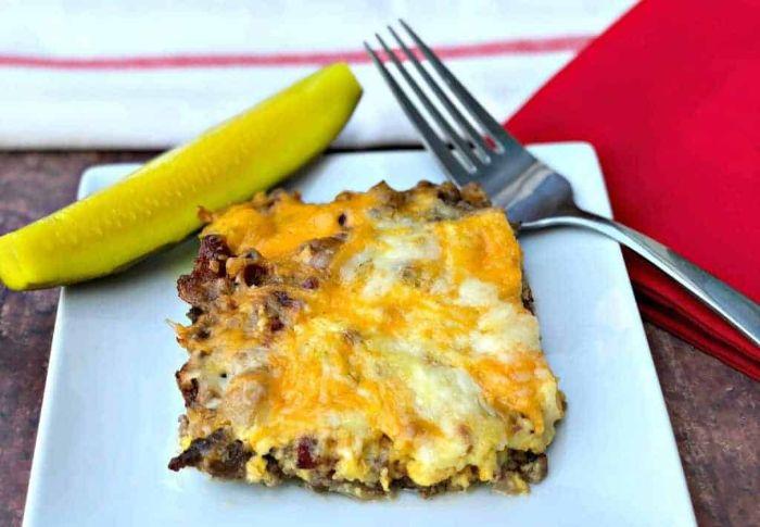 cacerola con carne picada y quesos, fotos de comidas fáciles y rápidas para preparar en casa, ideas de dieta cetogenica alimentos