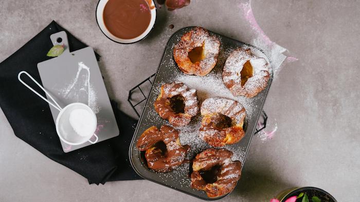como hacer pudin de yorkshire paso a paso azucar en polvo chocolate derretido ideas de recetas de postres