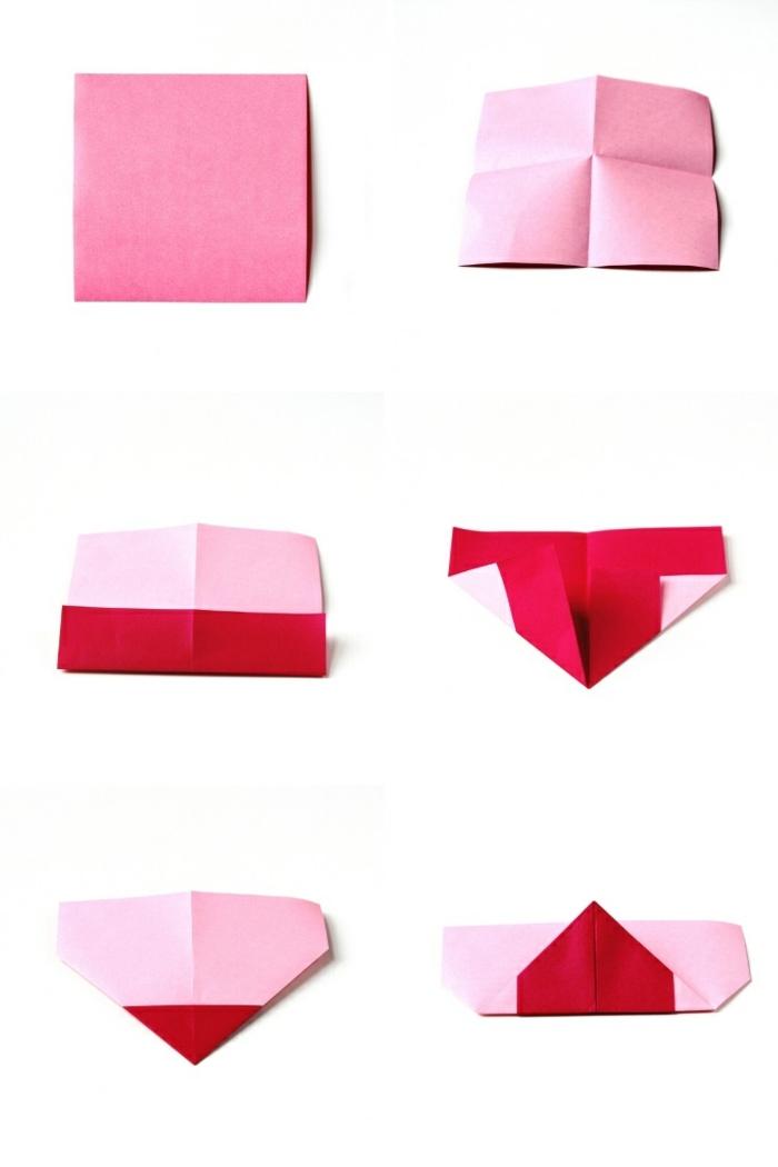 pasos para hacer un marcarpaginas de papel origami, ideas de regalos pequeños para sorprender a tu pareja en el dia de los enamorados
