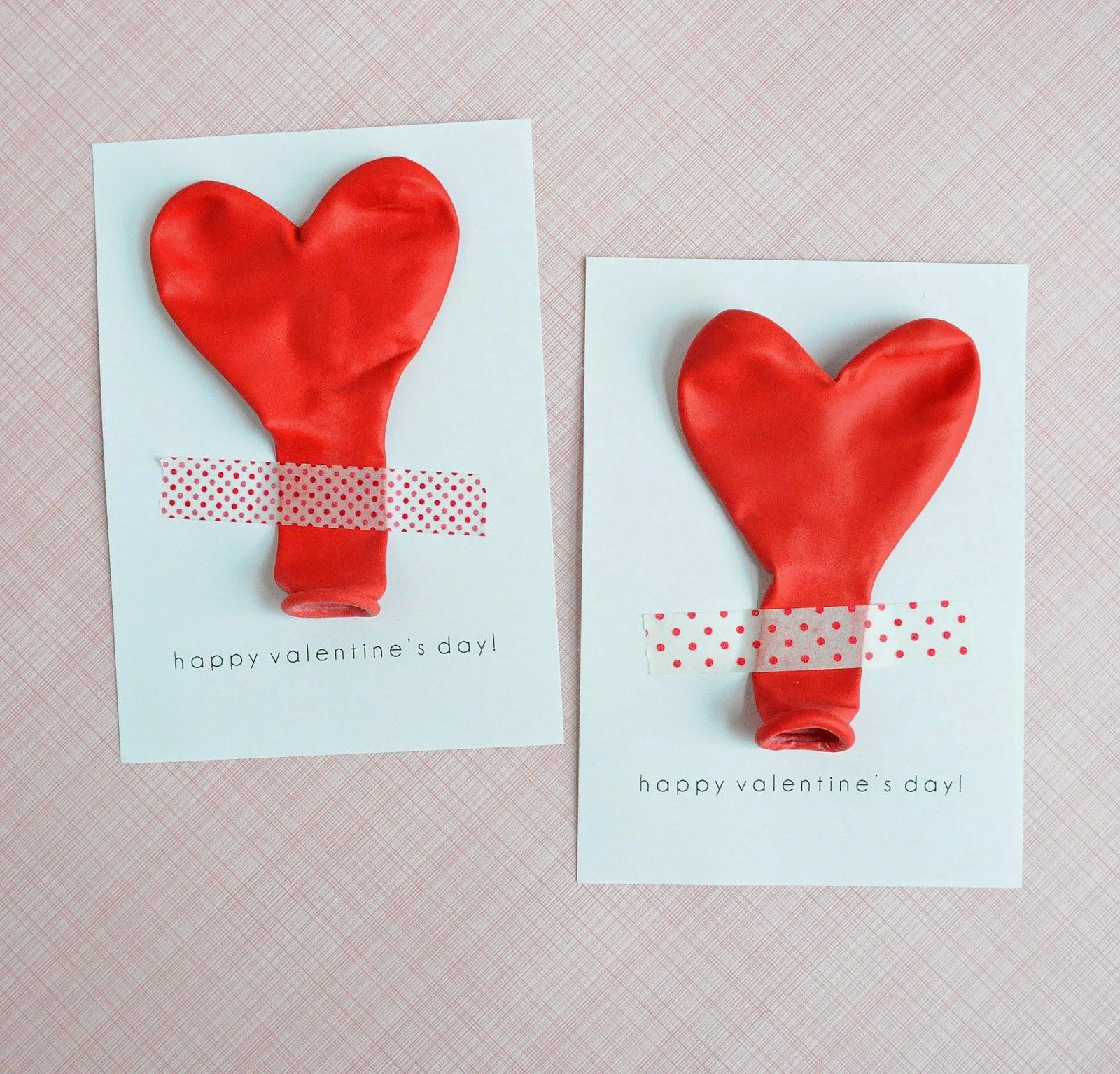 bonitas ideas sobre como hacer manualidades con globos coloridos, postales para san valentin super originales en fotos