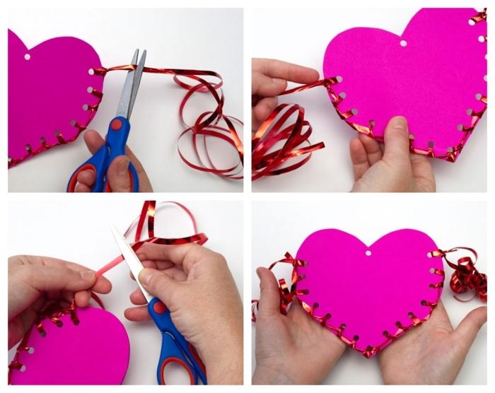 pasos para hacer tarjetas DIY para el 14 de febrero, fantásticas ideas de manualidades para regalar simpáticas paso a paso