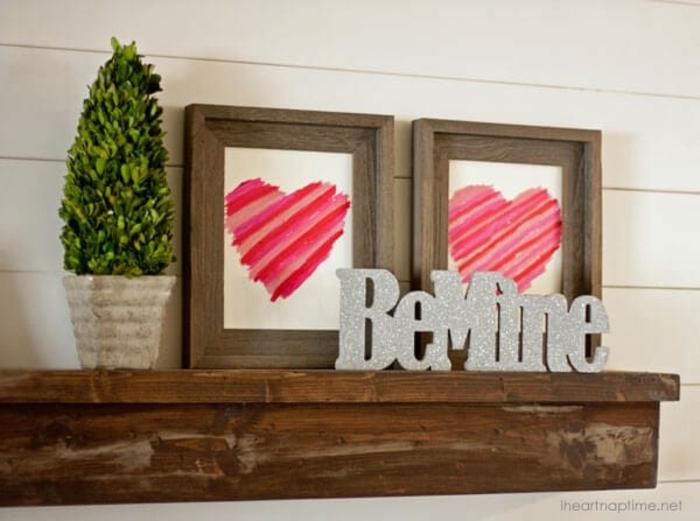 fantásticas propuestas sobre como decorar el hogar para el dia de los enamorados, fotos de cuadros decorativos originales