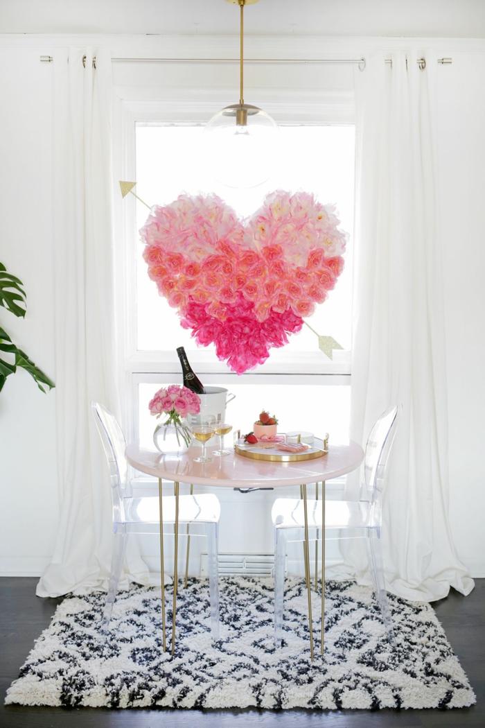 propuestas unicas de decoracion casera, manualidades san valentin originales, corona de flores en forma de corazon