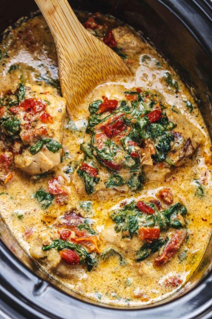 como preparar un plato saludable y rico con pollo, verduras y salsa cremosa, las mejores recetas para preparar en casa