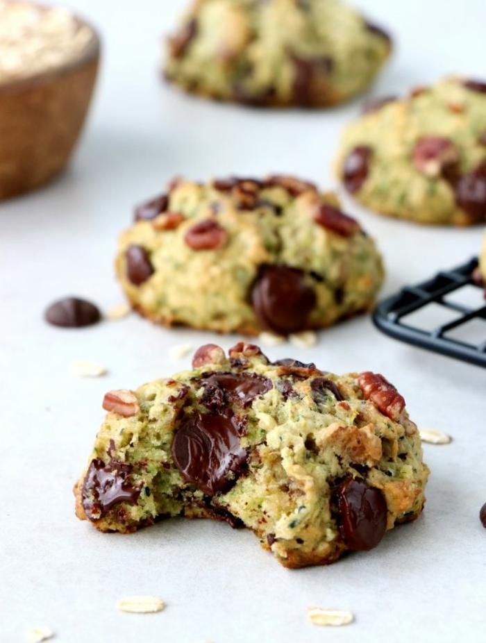 galletas saludables con calabacines y chocolate, recetas faciles y sanas en imagenes, alucinantes ideas de comidas sanas