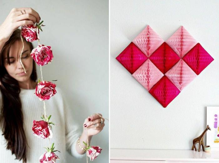 como hacer una decoracion romantica para el dia de san valentín, manualidades para decorar la casa fáciles y rápidas