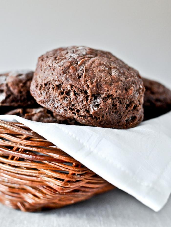 panecillos con cacao saludables, fotos de comidas para preparar en casa, comidas ricas y fáciles de preparar
