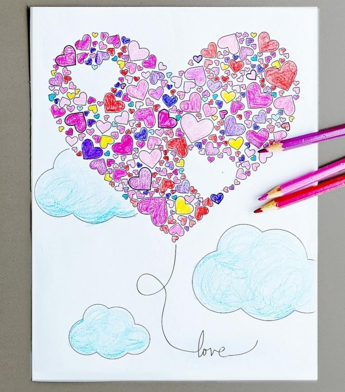 páginas para colorear, alternativas a las tarjetas de amor tradicionales, fotos de tarjetas de amor especiales y originales