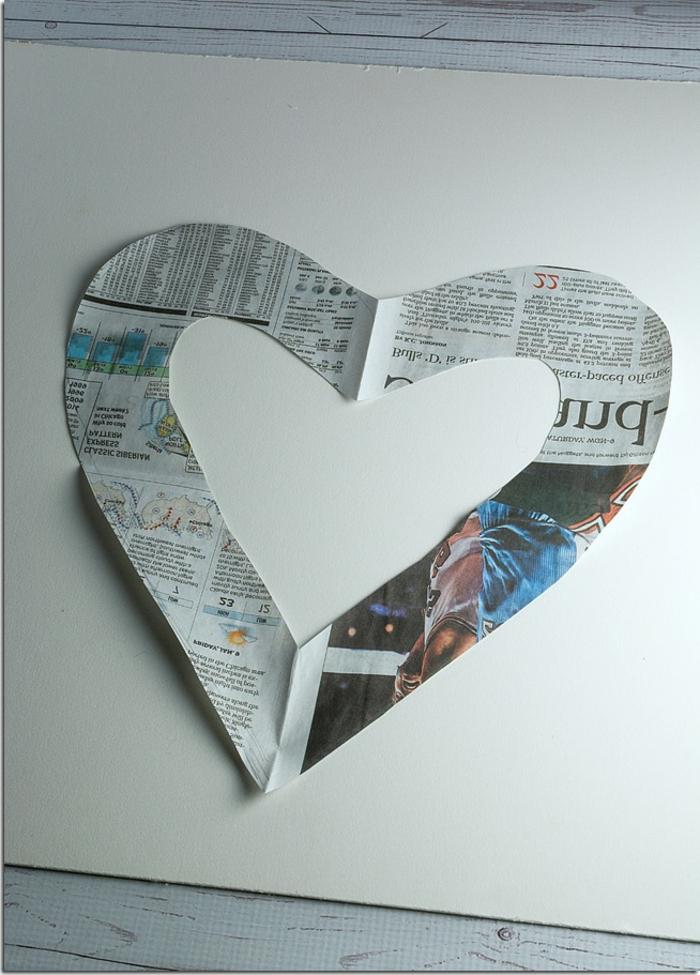 manualidades para el dia de san valentin, fotos de proyectos DIY paso a paso, originales ideas sobre como hacer un cuadro decorativo con corazón