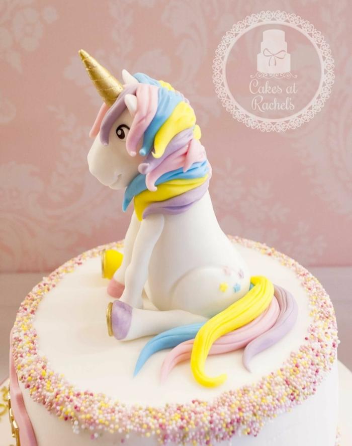 ejemplos tarta unicornio para sorprender a tus pequeños, tartas mágicas para pequeños y adultos, fotos de tartas