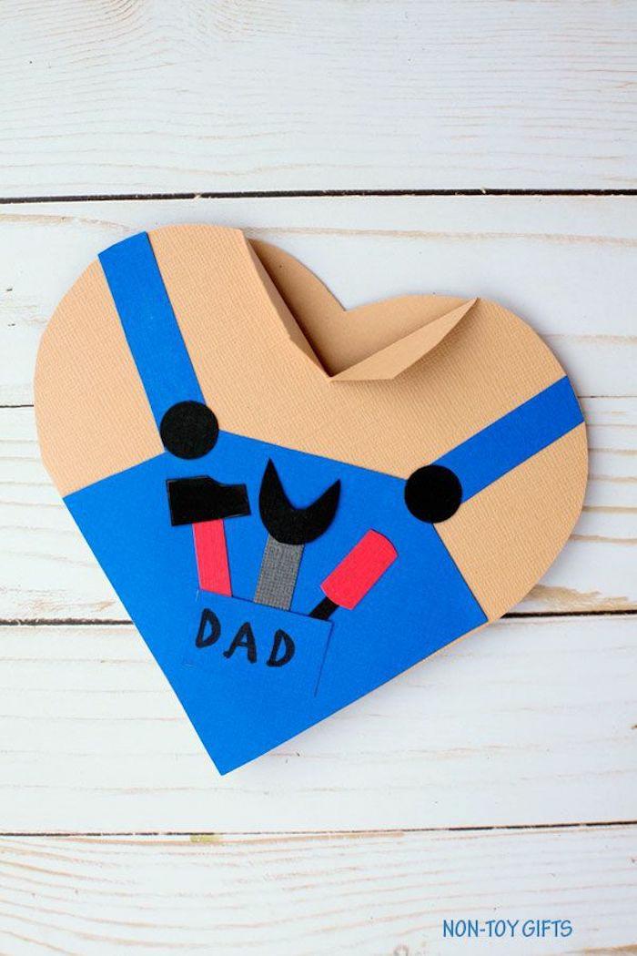 adorables ideas de sorpresas para tu papa, manualidades de cartulina originales, tarjetas para el dia del padre fáciles