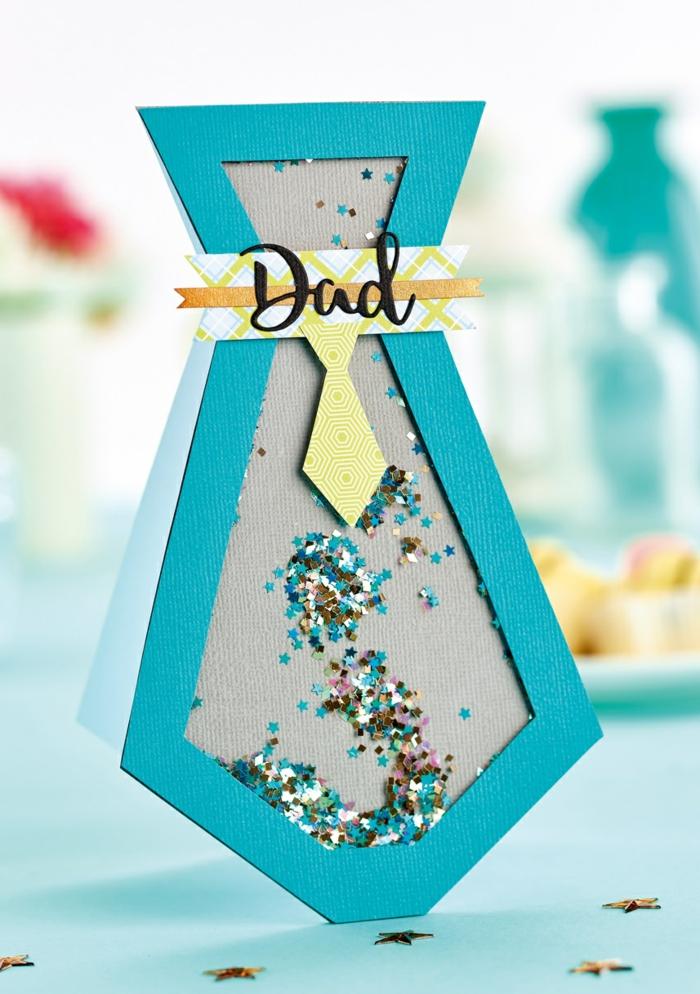 alucinantes ideas de regalos personalizados dia del padre, tarjeta de cartulina en forma de corbata, tarjetas para el dia del padre