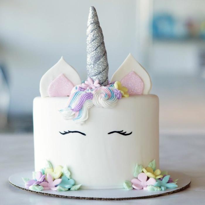 tartas originales bonitas, fotos de tarta unicornio para preparar en casa, tartas caseras originales y faciles de hacer