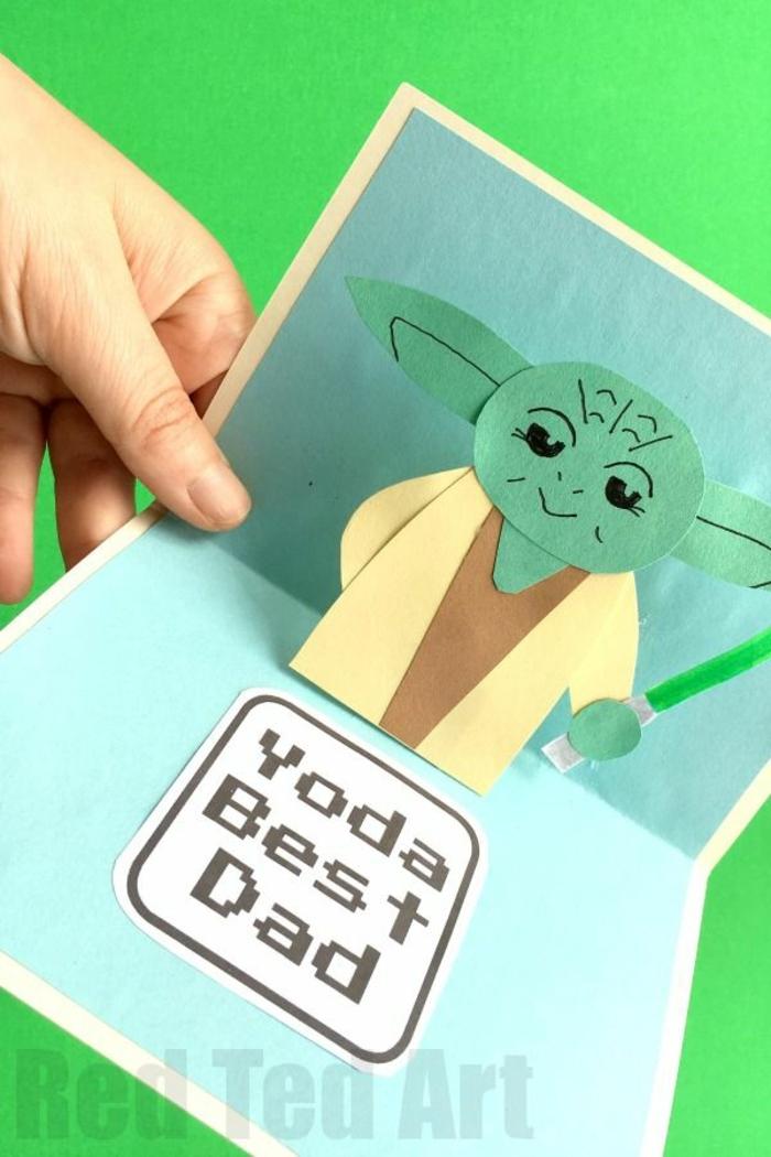 como hacer un bonito regalo a tu papa imagenes del dia del padre originales, tarjeta inspirada en juegos galacticos