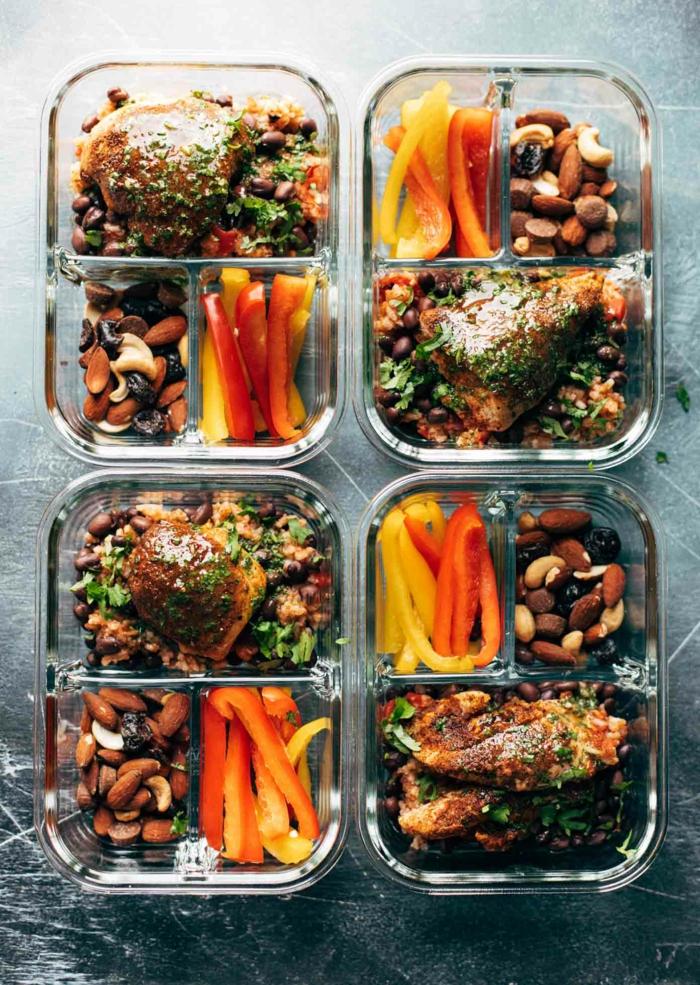 ideas para comer en la oficina, platos ricos con pollo, las mejores ideas de comidas con proteinas nutritivas en imagenes