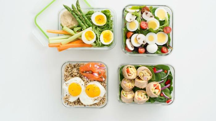 cuatro propuestas de comidas con huevos para tu almuerzo, recetas tupper originales y fáciles de preparar en fotos