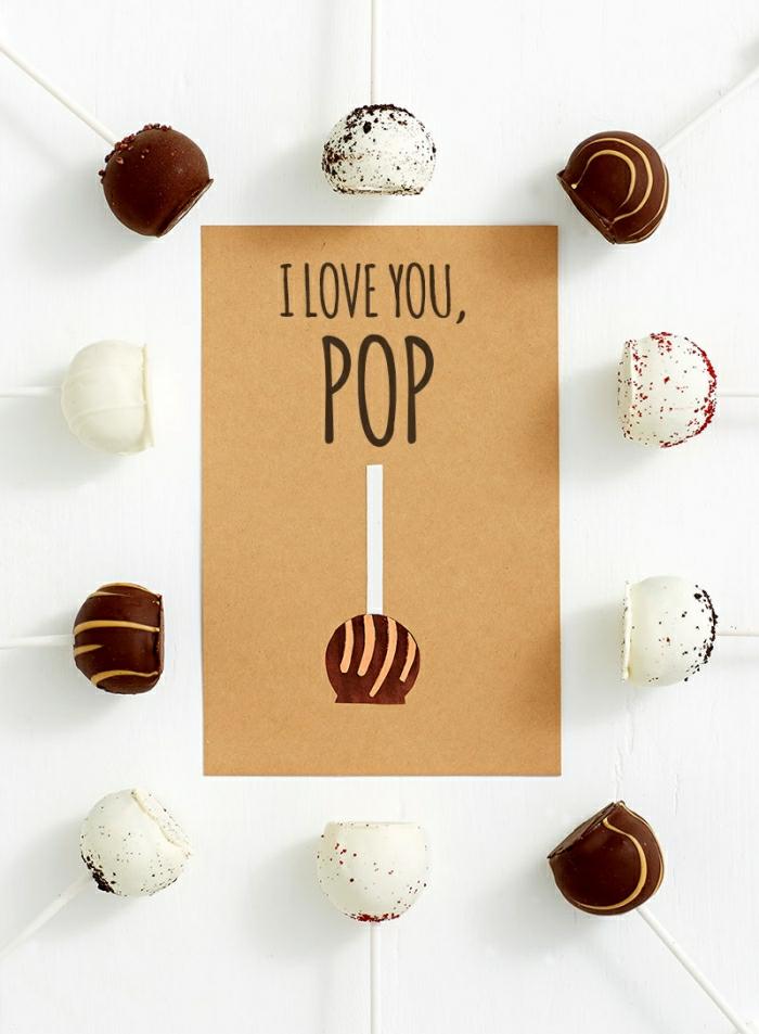 te quiero papa. tarjeta personalizada super original, postales del dia del padre que enamoran, fotos de regalos DIY