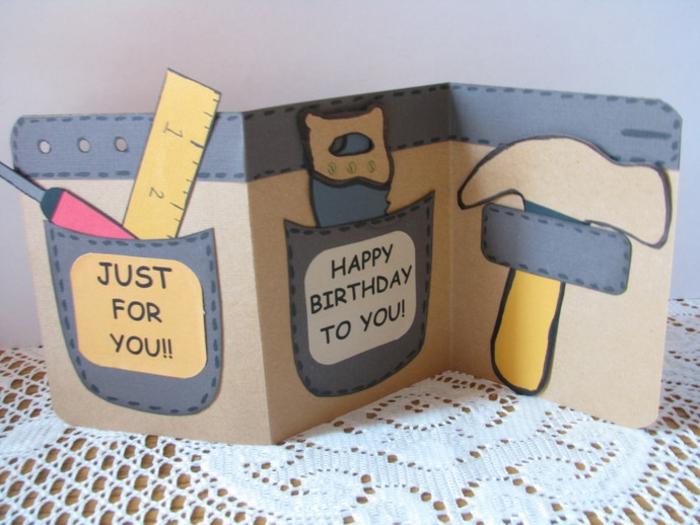 tarjetas DIY originales y fáciles de hacer en casa, los mejores ejemplos de postales del dia del padre para inspirarte