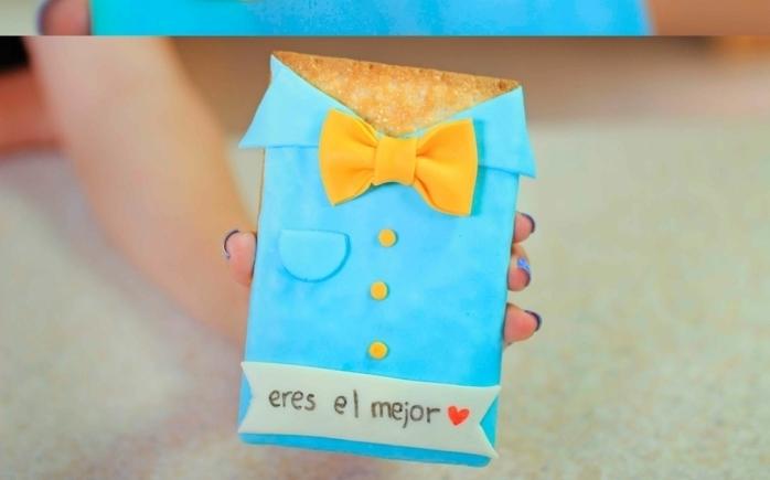 galleta eres el mejor padre, tarjeta original y bonitas, las mejores ideas de regalos originales, tarjetas para el dia del padre