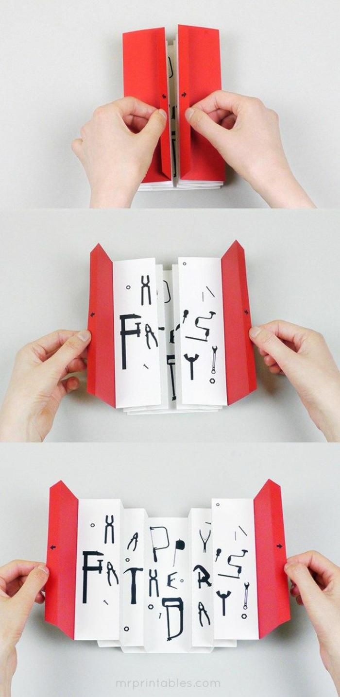 geniales ideas de regalos para el dia del padre manualidades, tarjeta pop up super original, ideas de manualidades