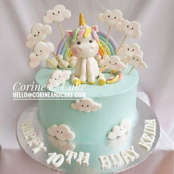 tartas mágicas con unicornio para hacer en casa, fotos de tartas especiales para cumpleaños, pasteles unicornio decorados con figuras de azucar