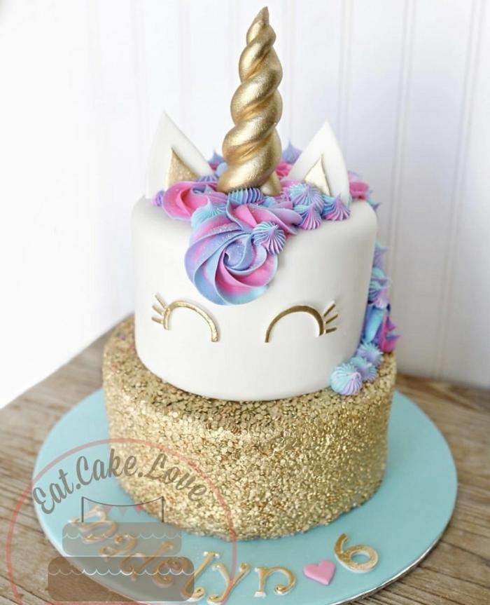 ideas pastel decorado para cumpleaños infantil, fotos de tartas especiales y fáciles de hacer, pastel de dos plantas