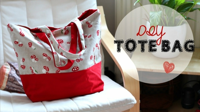 bolsa hecha de tela reutilizada, las mejores ideas sobre como hacer tote bag tela paso a paso, ideas de manualidades
