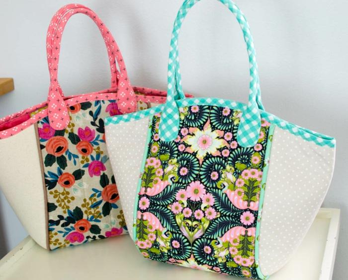 ideas sobre como hacer tote bag tela de telas recicladas, originales ideas regalos DIY bonitos, fotos de regalos DIy