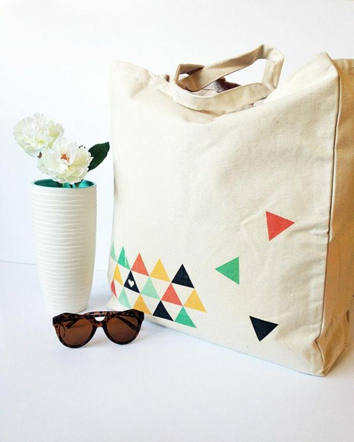 bolsa de tela original con estampados, tote bag tela en fotos, las mejores ideas de bolsas para hacer en casa