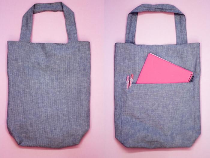 bonitas ideas de bolsos de tela hechos a mano, bolsas para ir a colegio, originales ideas de manualidades para regalar