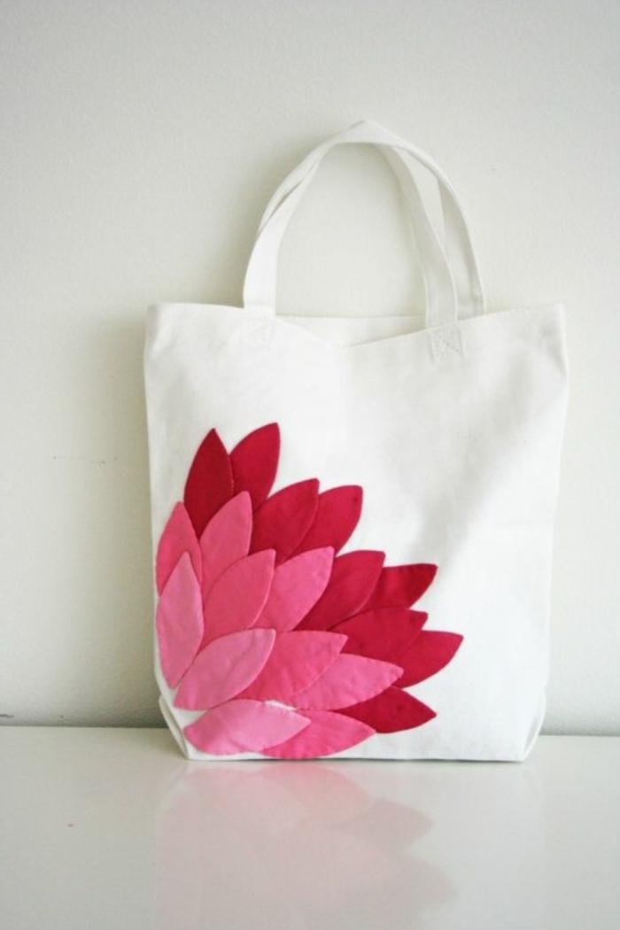 bolso de tela estampado super original, magnificas ideas de bolsos DIY para hacer en casa, fotos de manualidades para regalar