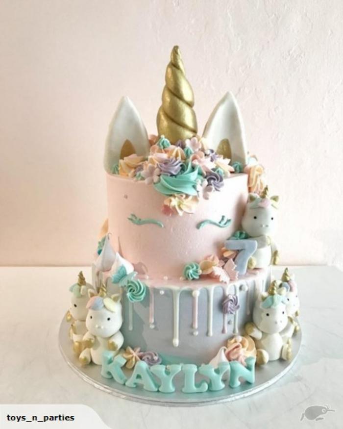 ideas de tartas caseras super originales, las mejores propuestas de pastel decorado en colores pastel, fotos de tartas