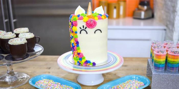 tarta para unicornio para descargar, fotos bonitas de tartas caseras fáciles de preparar para un cumpleaños infantil