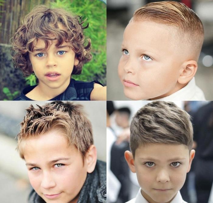 cuatro ideas de cortes de pelo para bebés y niños pequeños, cortes de pelo con flequillo, fotos de peinados pelo rizado