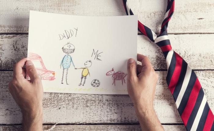 dibujos infantiles para regalar para el dia del padre, las mejores ideas de dibujos y tarjetas DIY para hacer en casa