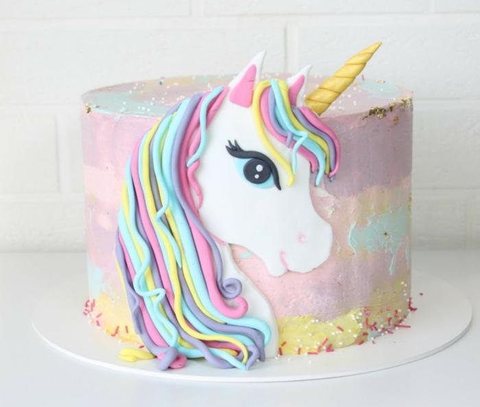 tartas para baby shower super originales, cumpleaños unicornio ideas de tartas, fotos de tartas bonitas y faciles de hacer