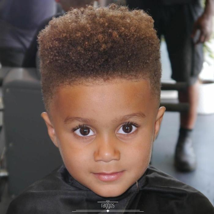 originales ideas de cortes de pelo para alargar la cara, peinados y cortes para cabello afro, más de 90 ideas de peinados niño