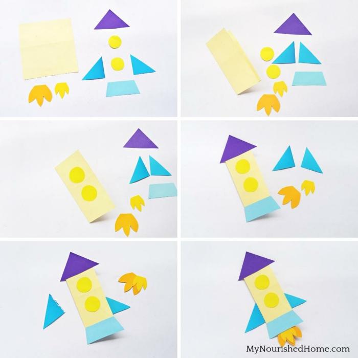 como hacer una tarjeta cohete paso a paso, tarjetas coloridas y fáciles de hacer para impresionar, tarjetas dia del padre