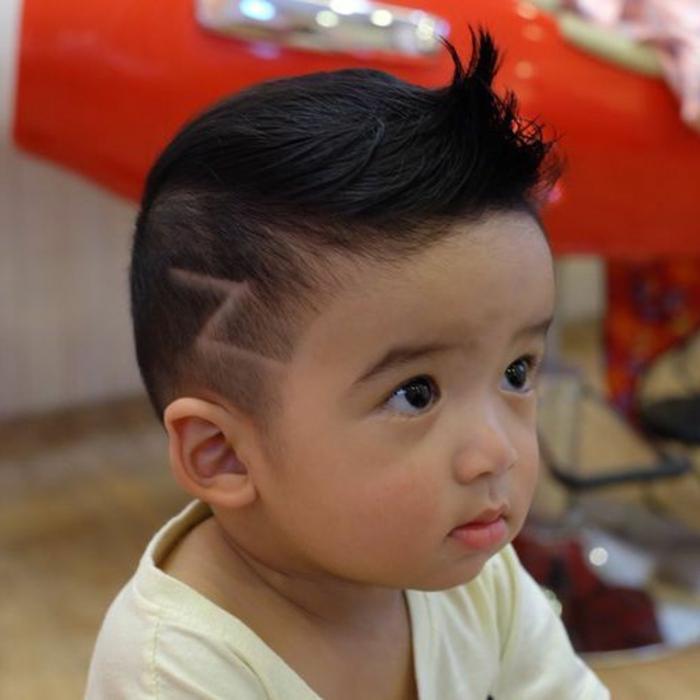cortes de pelo con rayas, super originales ideas de peinados para los mas pequeños, peinados harry potter