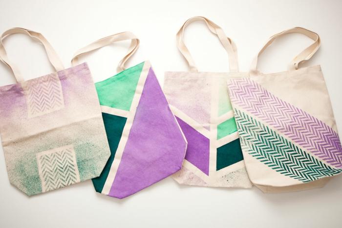 como hacer un bolso de mano super bonito, bolsos reutilizables originales hechos a mano, ideas de manualidades para regalar